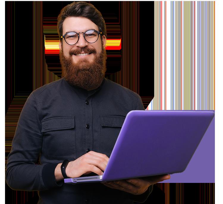 Cedaron software engineer smiling looking at camera